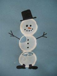 toilet paper stamping snowmen