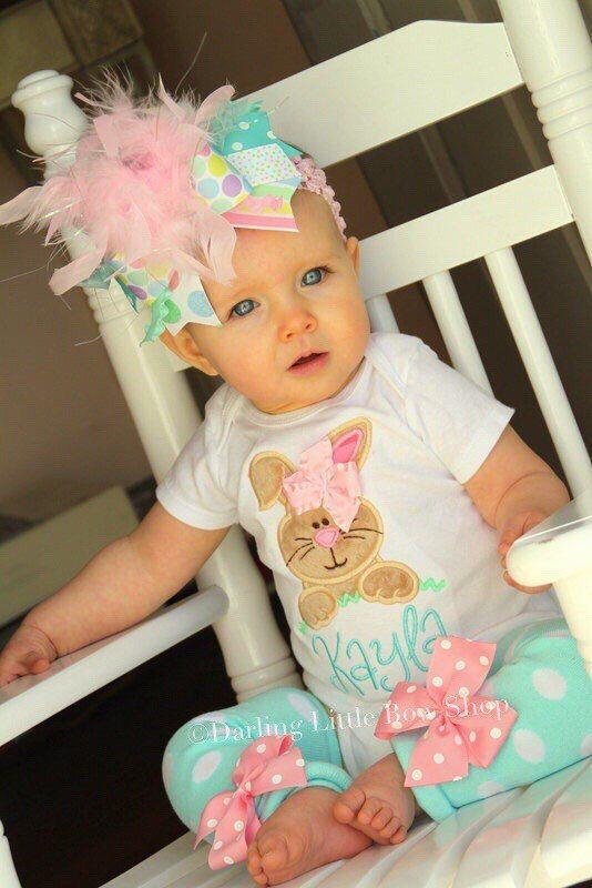 Bebé niña Pascua traje visto en VOGUE  Hippity Hop  conejito