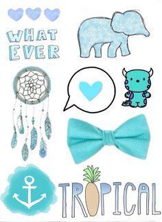 Blue dress tumblr overlay