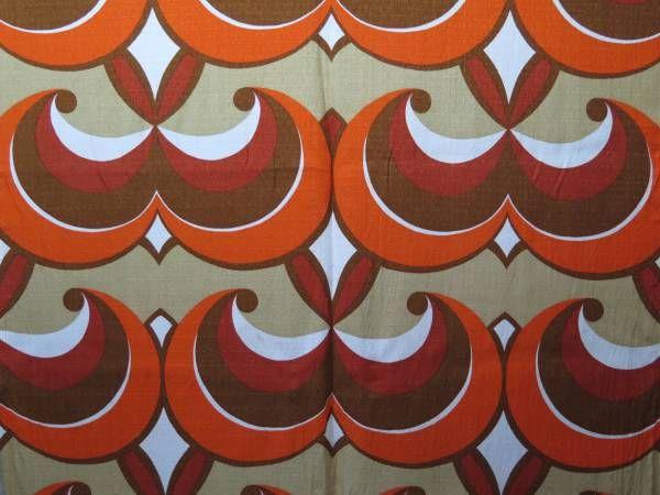 70年代当時のヴィンテージカーテンは1点ものです。#カーテン#ヴィンテージ#70s#ミッドセンチュリー