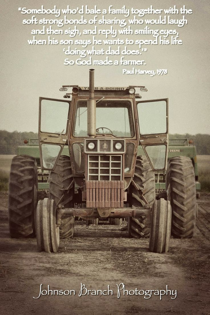 So God Made a Farmer,Paul Harvey 1978. Antique International Harvester Tractor, Spring planting. Vintage Edit Johnson Branch Photography