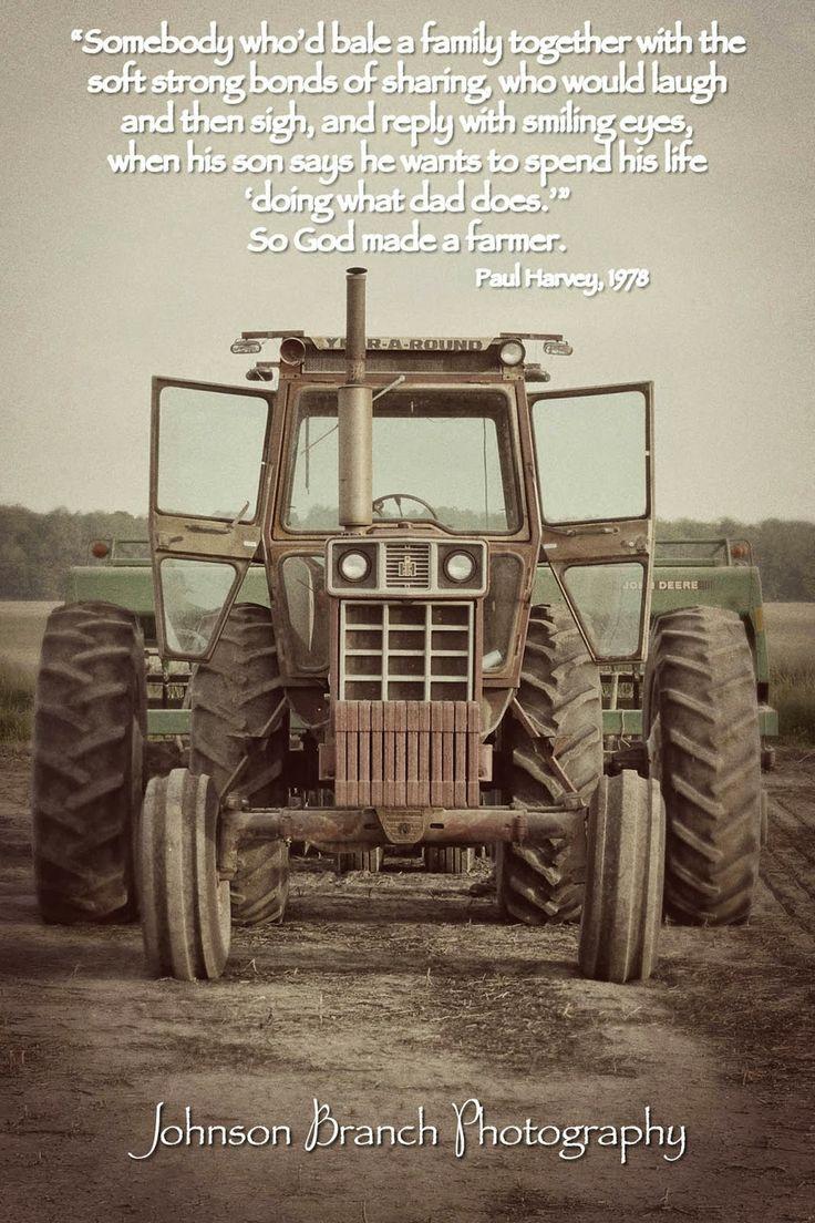 So God Made a Farmer,Paul Harvey 1978. Antique International Harvester Tractor, Spring planting. Vintage Edit Johnson Branch Photography