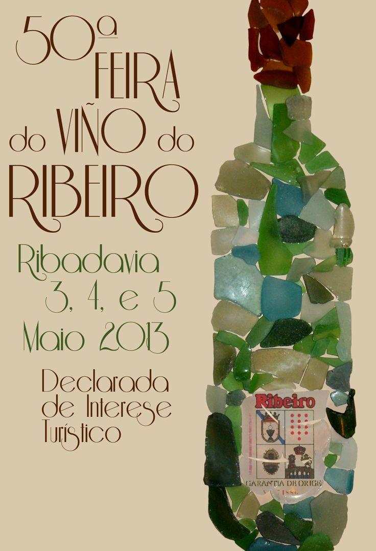 Cartel para el Concurso de la Feria del Vino del Ribeiro