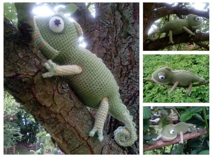 #Chameleon#crochet#háčkování#