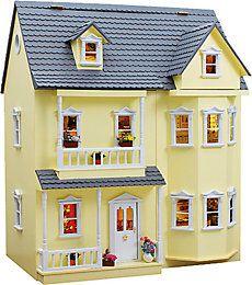 Puppenhaus Bausatz - Fassadenfarbe gelb   Sammler-Edition Weltbild.de