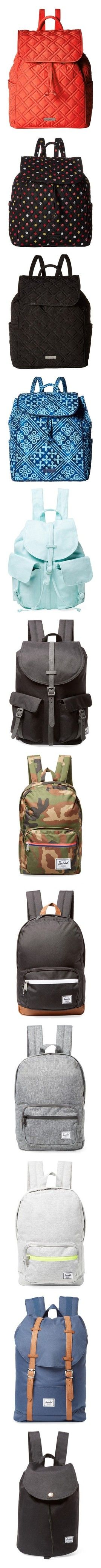 """""""Backpacks.3"""" by falconry ❤ liked on Polyvore featuring bags, backpacks, cotton drawstring bags, drawstring rucksack, day pack backpack, flap backpack, cotton drawstring backpack, vera bradley, cotton backpacks and drawstring knapsack"""