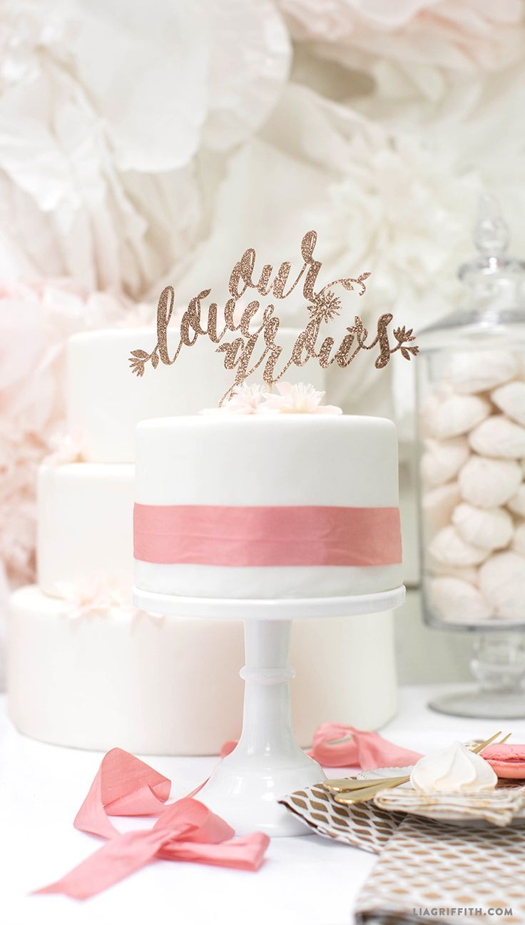 95 best d i y cake toppers images on pinterest birthdays cake diy wedding cake topper solutioingenieria Image collections