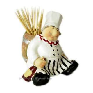 Italian Chef Kitchen Decor Items | Fat Italian Chef Toothpick Holder Bistro  Cooking.: Home