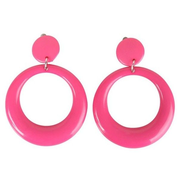 80's Pink Teardrop Costume Earrings ($4.99) ❤ liked on Polyvore featuring jewelry, earrings, tear drop jewelry, 80s fashion, pink jewelry, teardrop jewelry and fancy earrings