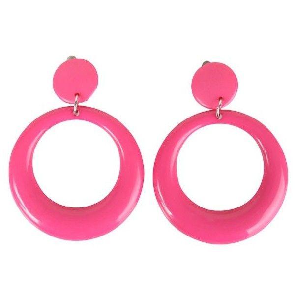 80's Pink Teardrop Costume Earrings ($4.99) ❤ liked on Polyvore featuring jewelry, earrings, tear drop jewelry, 80s fashion, pink jewelry, teardrop jewelry and fancy earrings