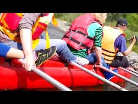 Сплав по реке Белый Июс. Республика Хакасия. Rafting White Yus. The Repu...