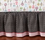 Woodlands Crib Bed Skirt. Okay not so much for the shower but in case she needs some girly woodland bedding ideas for the baby's room. :-)