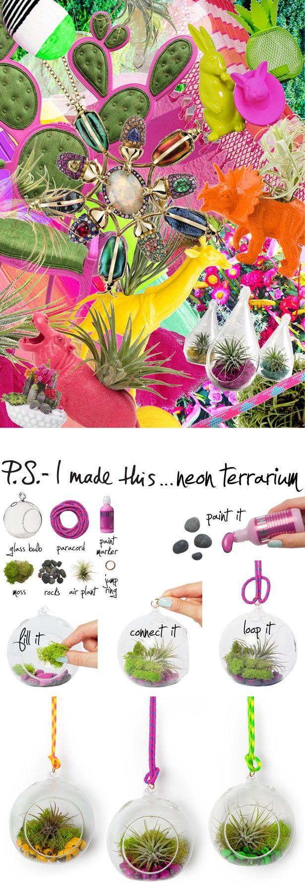 P.S.-I made this...Neon Terrarium  #PSIMADETHIS #DIY @MakersKit - DIY Project Kits - DIY Project Kits