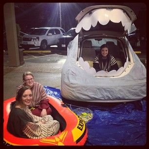 Jonah swallowed by a whale.   36 Trunk-Or-Treat Themes That Really Nailed It