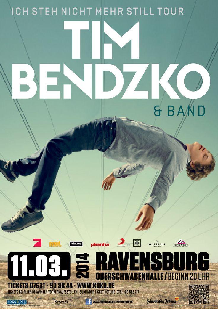 TimBendzko Ravensburg Oberschwabenhalle Konzert Bodensee Ichstehnichtmehrstill Tour2014 Programmiert