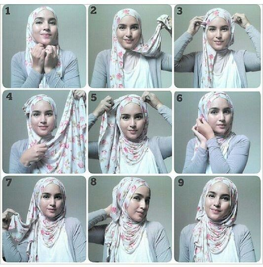 Tight Back Style – Hijab Tutorial