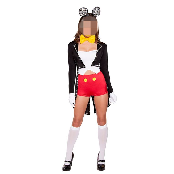 >> Click to Buy << Women Sexy Tail Coat Adult Mini Mouse Costume Halloween Mickey Fancy Dress Cosplay with coat New Cute Fashion Sexy Mouse set  #Affiliate
