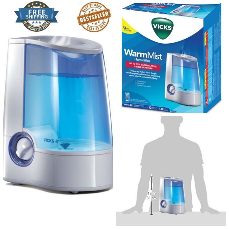 Baby Warm Mist Humidifier With Auto Shut Off Vicks Quiet Operation Nightlight  #Vicks