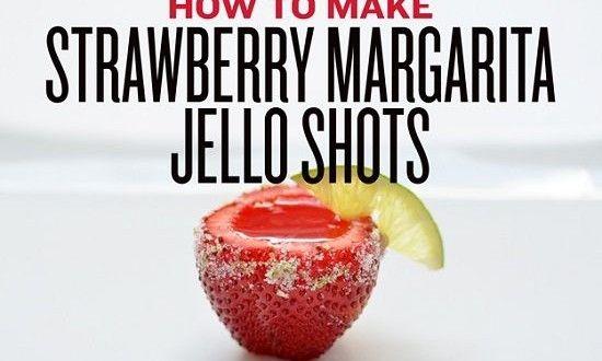 Shots de fresa, gelatina y tequila - Date un capricho
