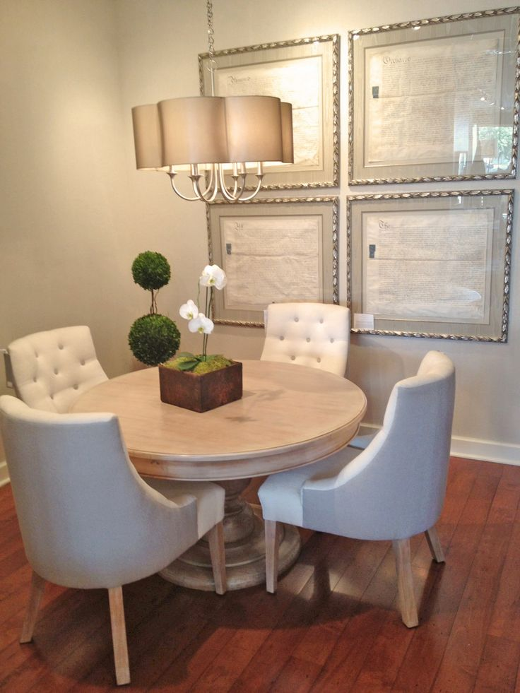 Iveston Dining Table Barrel Chairs And Framed Land Contracts