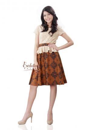 CA.20512 Friska Peplum Sogan Batik Dress -L