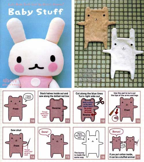 how to make a bunny put of gloves