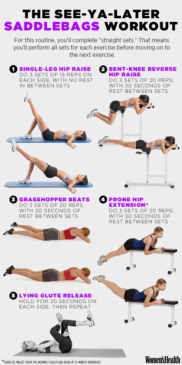 get rid of saddlebags with this workout