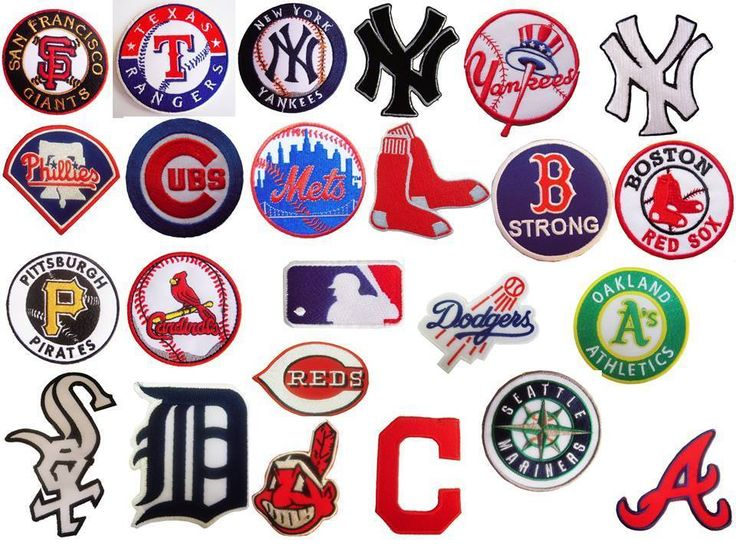 Mlb Major League Baseball Team Logo Patches Embroidered Iron Or Sew On Patch Unbranded Baseball Teams Logo Major League Baseball Teams Baseball Team