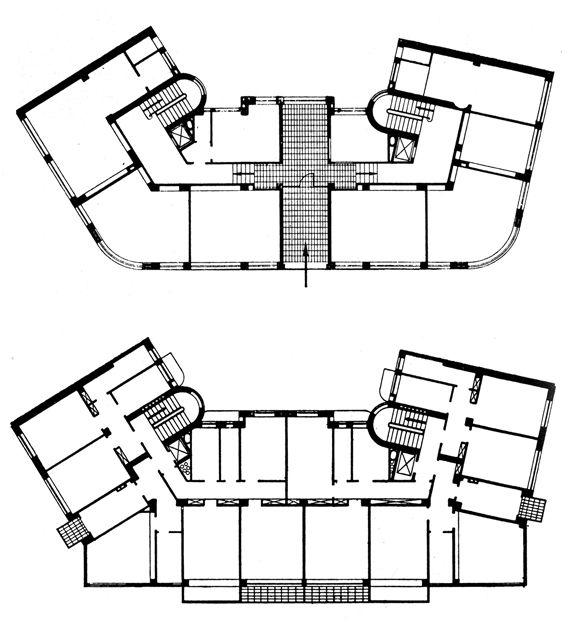 Terragni, pianta di Casa Ghiringhelli, Milano  http://milanoarte.net/it/visite-guidate-a-milano/itinerari-di-architettura-a-milano
