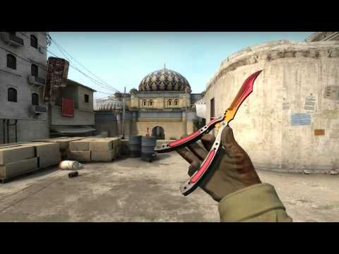 CS GO: Butterfly Knife Fade Factory New Showcase #2 - YouTube