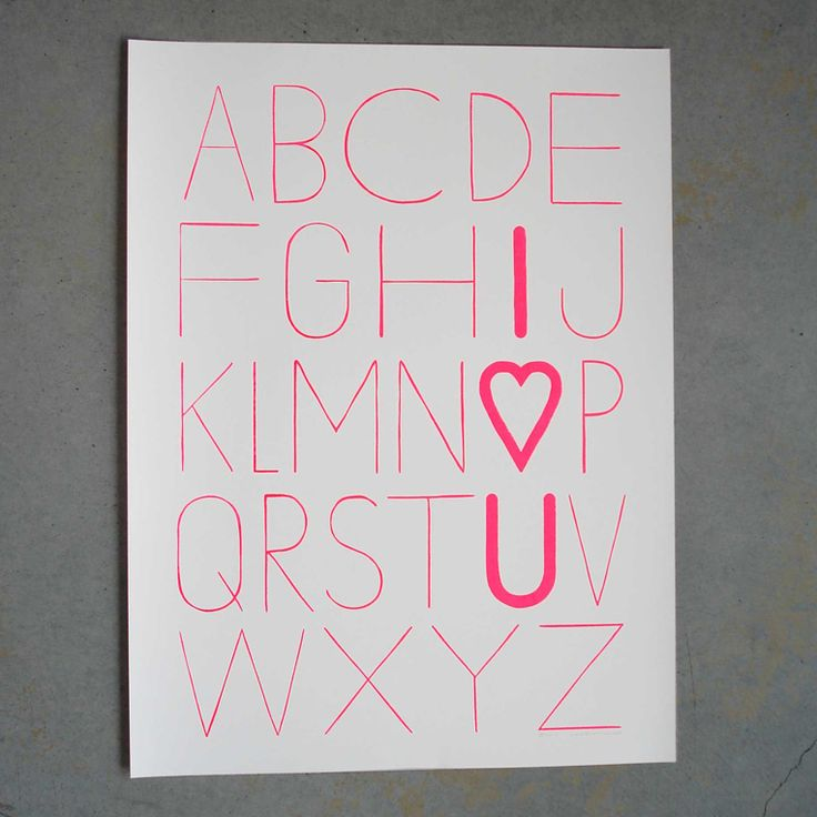 """Image of LOVE LETTERS 18""""X24"""" PRINT"""