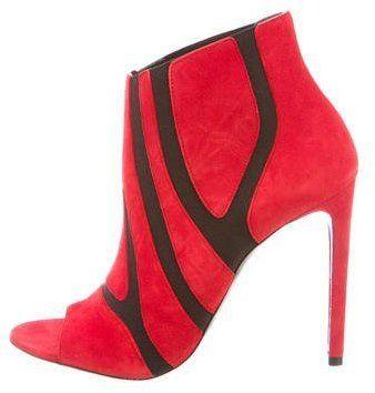 Balenciaga Stingel Peep-Toe Ankle Boots w/ Tags