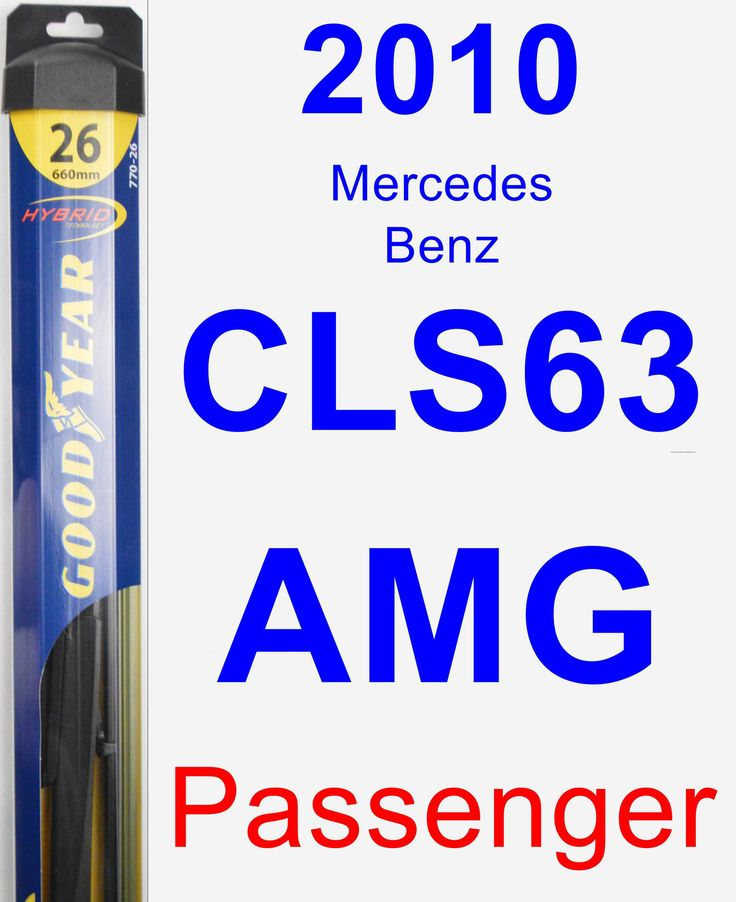 Passenger Wiper Blade for 2010 Mercedes-Benz CLS63 AMG - Hybrid