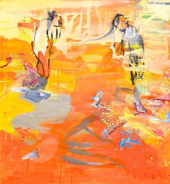 Tierra I (2012), 150 cm x 140 cm, akryyli ja öljy kankaalle.