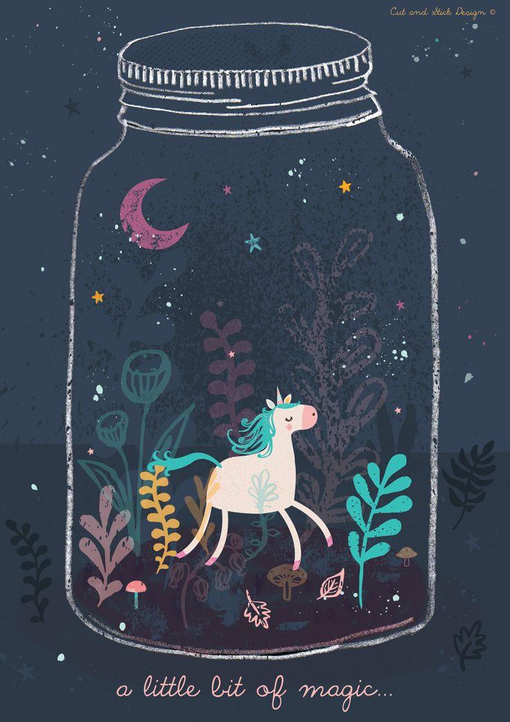 A little bit of magic = a unicorn in a terrarium