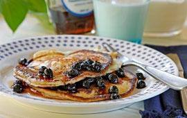American pancakes with blueberries: http://www.arla.se/default____17653.aspx?recipeid=22816