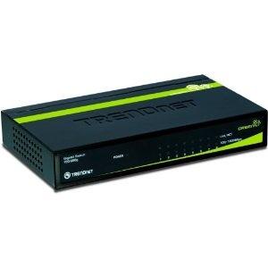 TRENDnet 8-Port Unmanaged Gigabit GREENnet Standard Switch (8 x 10/100/1000Mbps)