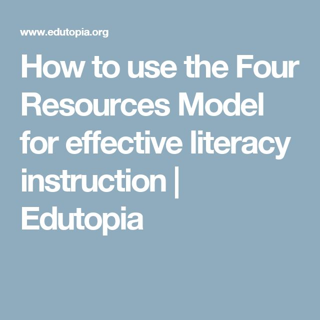 How to use the Four Resources Model for effective literacy instruction | Edutopia