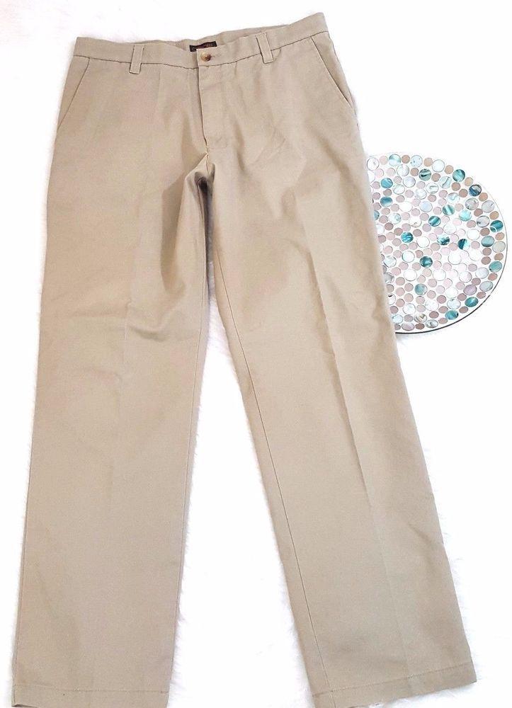Cherokee Mens Pants Size 34x34 Beige Chino Khakis Casual Dress Slacks Straight #Cherokee #Chinos