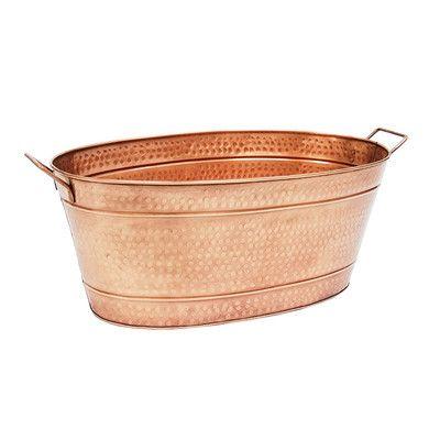 "ACHLA 30.5"" Copper Beverage Tub & Reviews | Wayfair"
