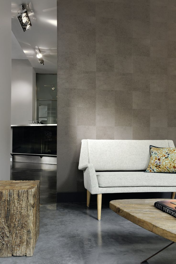 "Movida HPC, patchwork of lifelike hides Osnaburg fabric backing. Sold by the meter/yard: 135 cm wide (53""). #elitis #wallcovering #HPC #architecture #interiordesign #hotel"