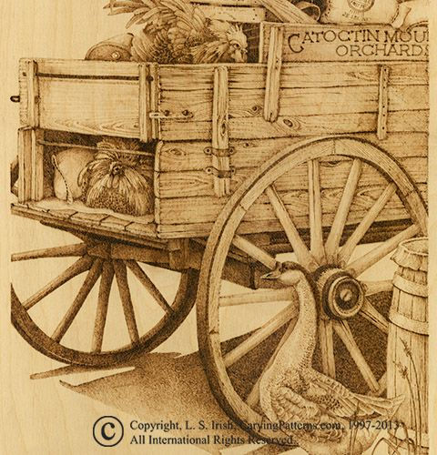 pyrography crafts | This old country wagon is just one of the many detailed patterns for ...