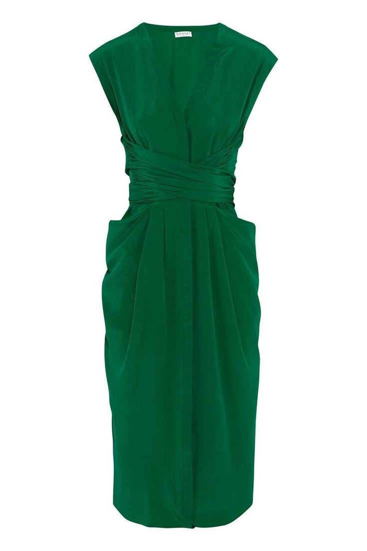 Vionnet's Emerald Silk Wrap-Dress