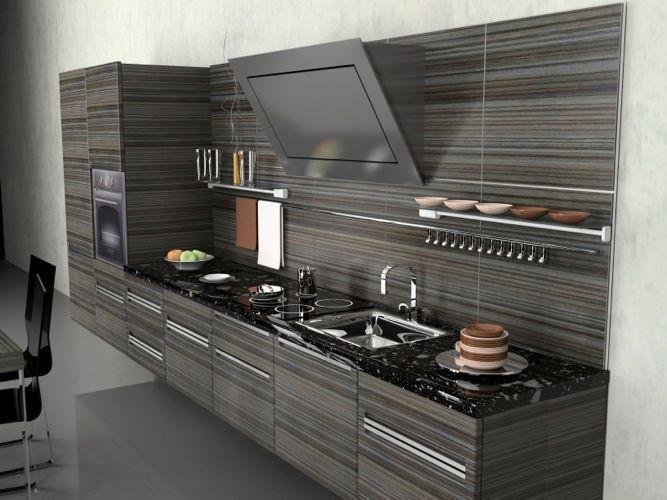 Contemporary Kitchen - Tenino Grey Cabinets