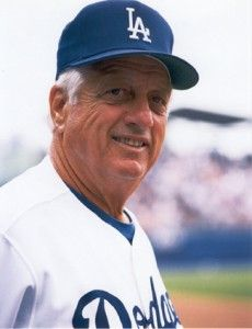 Tommy Lasorda, L.A. Dodgers- love this guy ! One of the best mgrs ever