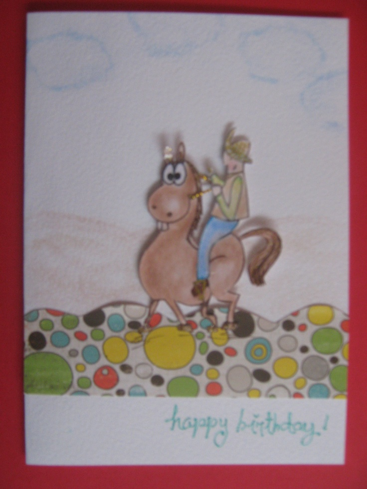 Someone asked me to make this special card for someone who loves horses!