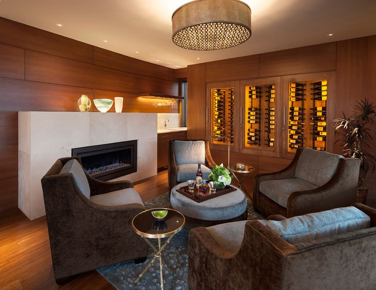 #conversationarea | Midcentury #WineCellar by 186 Lighting Design Group - Gregg Mackell