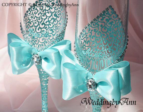Copas de bodas de plata flautas de champán de boda novia y