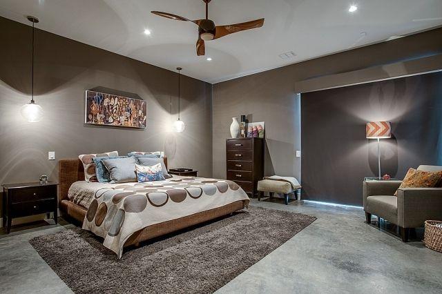 schlafzimmer-streichen-ideen-taupe-beleuchtung-konzepte ห้องนอน - ideen für schlafzimmer streichen