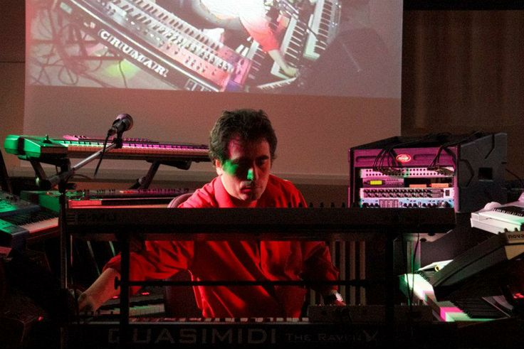 ALba Ecstasy & Nord: The Electronic Museum Concert.  April 2012. Nord playing the keys.